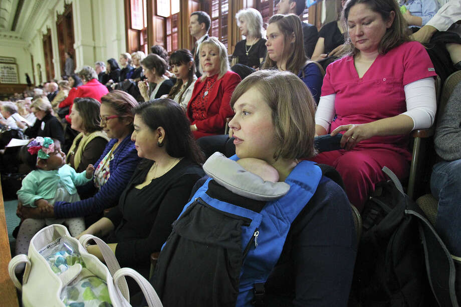 The Texas Breastfeeding Coalition visits the Texas Senate on March 3 . Now, public employers in Texas must provide time and private space so workers who breastfeed can express milk. Photo: Tom Reel / San Antonio Express-News