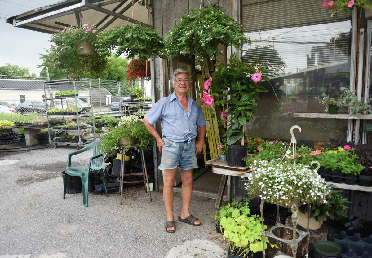 Owner Joe Galluzzo stands outside of his business, Joe G. Nursery, in Stamford, Conn. Wednesday, July 15, 2015. A Stamford real estate developer is hoping to build a mixed-use development on the current Joe G. Nursery site.