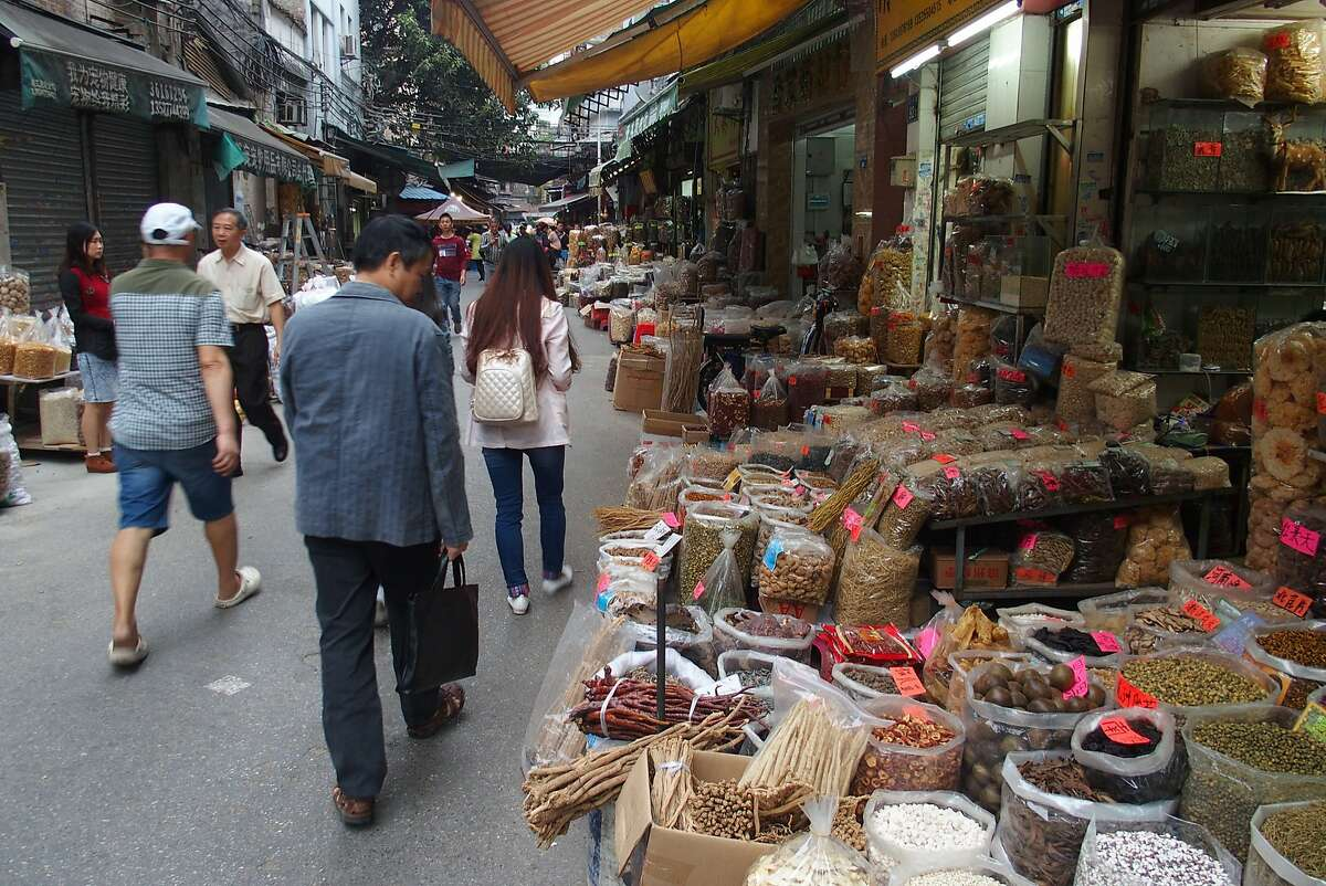 Qingping Market is the largest street-market neighborhood in Guangzhou and still caters to a large portion of the population that buys fresh ingredients daily, from whole ducks to obscure mushrooms to live scorpions.
