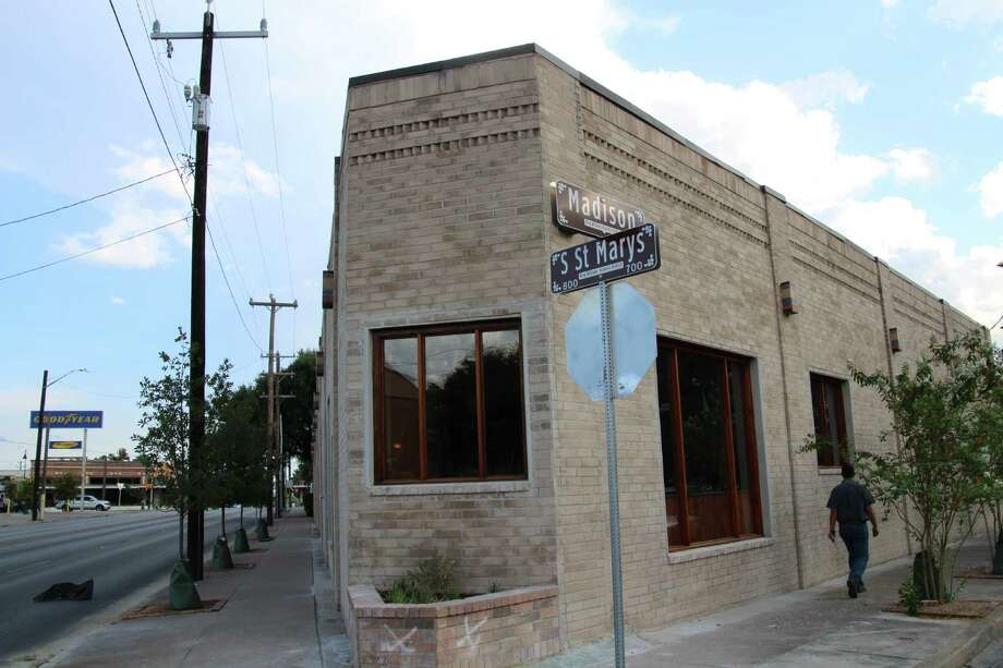 Located at 803 S. St. Mary's St., you might remember the space as an old, abandoned windowless brick building on the corner of S. St. Mary's and Madison.  Now? Not so much. Photo: Julie Cohen / San Antonio Express-News