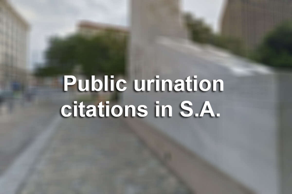 The streets near the Alamo are among the areas where public urination and defecation citations are issued in S.A.
