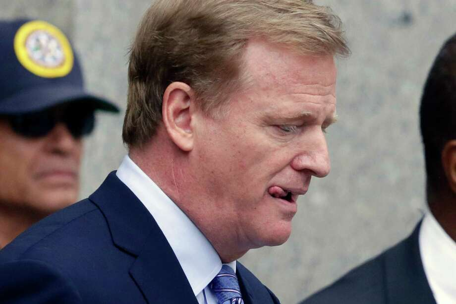 NFL commissioner Roger Goodell endured another setback in the courts after his four-game suspension of Tom Brady was overturned Thursday. Photo: Mark Lennihan, STF / AP