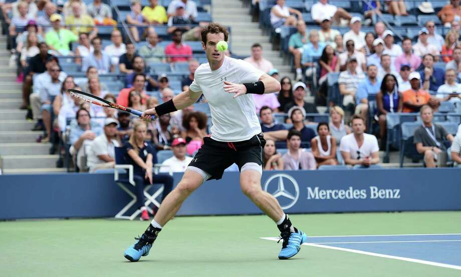 Andy Murray of Great Britain during his match against Adrian Mannarino of France in the second round of U.S. Open tennis tournament at Arthur Ashe Stadium in New York, Sept. 3, 2015. Murray won 5-7, 4-6, 6-1, 6-3, 6-1. (Ben Solomon/The New York Times) ORG XMIT: XNYT135 Photo: BEN SOLOMON / NYTNS