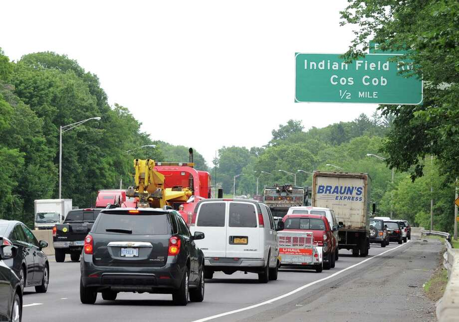 While not as busy as the Fourth of July holiday traffic, expect more vehicles on the roads this Labor Day weekend, especially on Friday and Monday. Photo: Bob Luckey Jr. / Hearst Connecticut Media / Greenwich Time