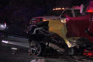 Woman killed in head-on crash with 18-wheeler - Photo