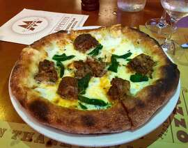 Pizzeria Mozza: Bianca pizza with sage and sausage.
