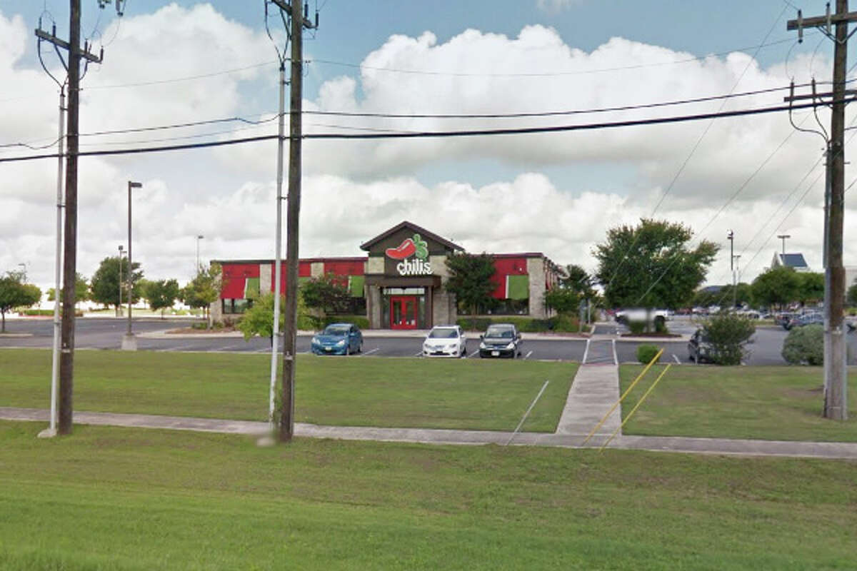 Chili's Grill and Bar: 131 S.W. Loop 410, San Antonio, Texas 78245Date: 04/04/2016 Demerits: 14Highlights: Large bucket stored inside hand washing sink, documentation not provided for employees handling ready-to-eat foods with bare hands, plumbing repairs needed, inspection report not posted in public view
