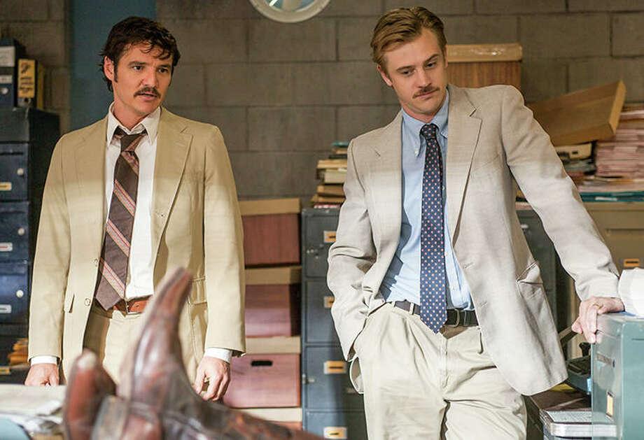 Pedro Pascal and Boyd Holbrook, Narcos | Photo Credits: Daniel Daza/Netflix / Copyright 2014 Netflix, Inc.  All rights reserved.