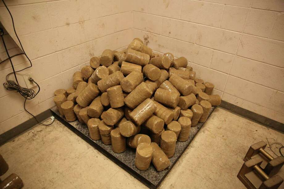 On Wednesday, agents seized about 500 pounds of marijuana stuffed inside hollow wooden posts. Photo: U.S. Customs And Border Protection