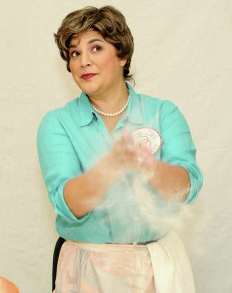 "Mezzo-soprano Laura Mercado-Wright plays Julia Child in Opera Piccola's staging of ""Bon Appétit!"" Photo: Courtesy Photo /Kristian Jaime"