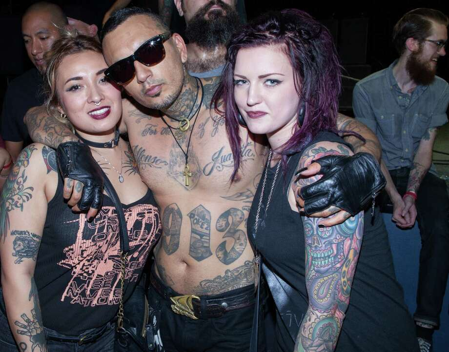 'Cholo goth' is a thing, and its pioneering band Prayers drew dozens of San Anto beauties to Paper Tiger Thursday night, Sept. 3, 2015. Photo: Fabian Villa And Steven Casanova/ Compiled By J.M. Scott