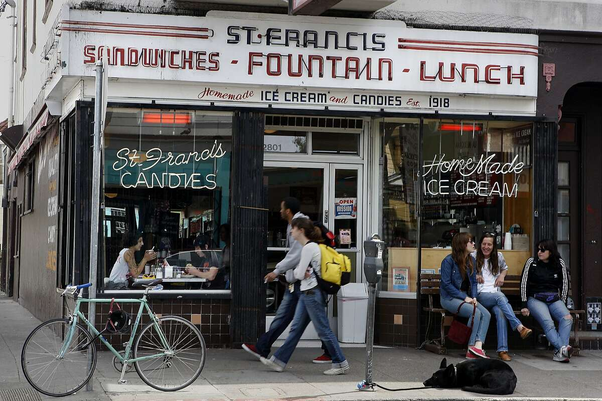 """24th Street spans both the Mission District and Noe Valley and offers the best of both neighborhoods, from funky to family-oriented. Start your weekend on the eastern Mission District end of the street with a classic diner breakfast at St. Francis Fountain, a 1918 gem where we recommend a breakfast scramble and a side of the famous house banana bread. Don't worry if you're a vegetarian or vegan; you can get a diet-friendly version of your comfort food favorites without any extra fuss. Don't leave without checking out the candy counter, which sells old-school bubble gum cards featuring yesterday's pop culture favorites like Cyndi Lauper, the original """"Beverly Hills, 90210"""" cast and """"Peewee's Playhouse."""" St. Francis Fountain: 2801 24th St., (415) 826-4210; www.stfrancisfountainsf.com"""
