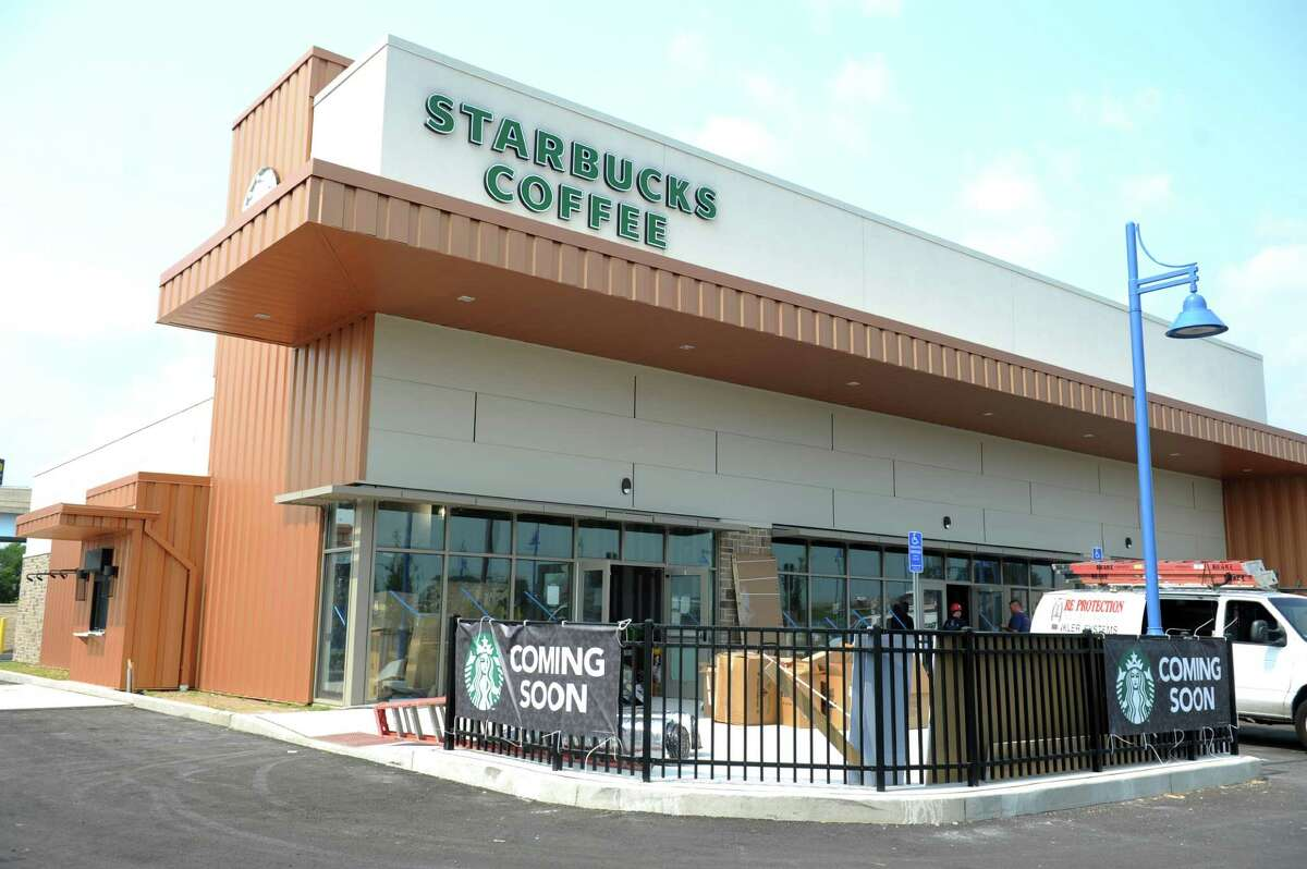 Starbucks will open soon in the Steelpointe Harbor development in Bridgeport, Conn.