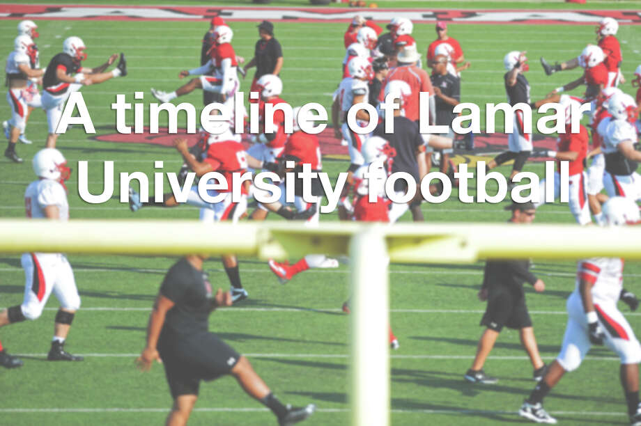 Scroll through the gallery to see pivotal moments of the Lamar Cardinals football team since its start. Photo: Jake Daniels, The Enterprise / ©2015 The Beaumont Enterprise/Jake Daniels