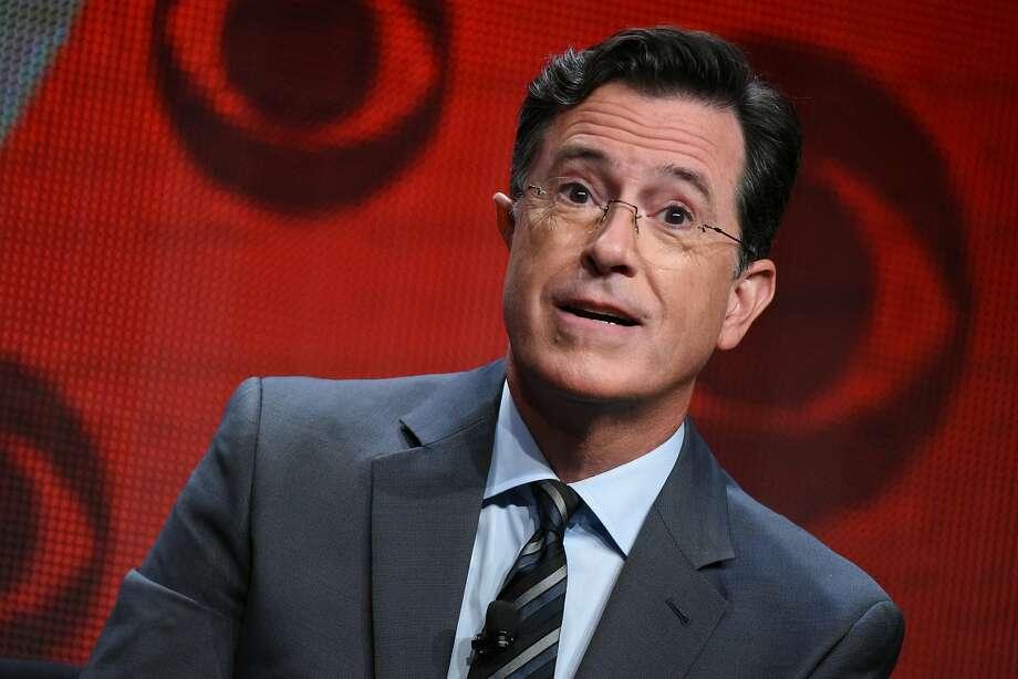 Stephen Colbert's late-night show premieres on CBS. Photo: Richard Shotwell, Associated Press