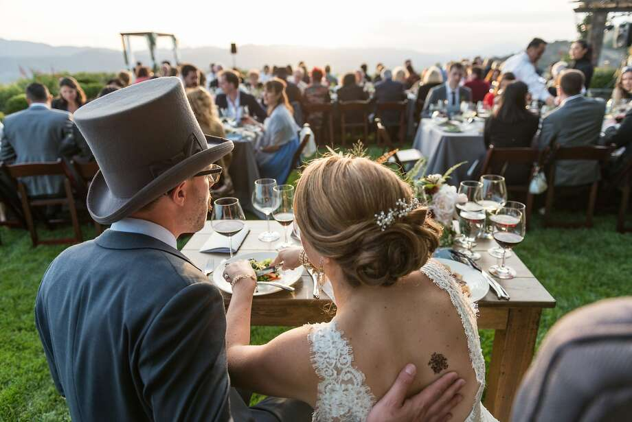 Alan Kropf and Ashley Teplin wed May 16 at a private home in Napa Valley in an event that told the story of their courtship and relationship. Photo: Matthew Noel