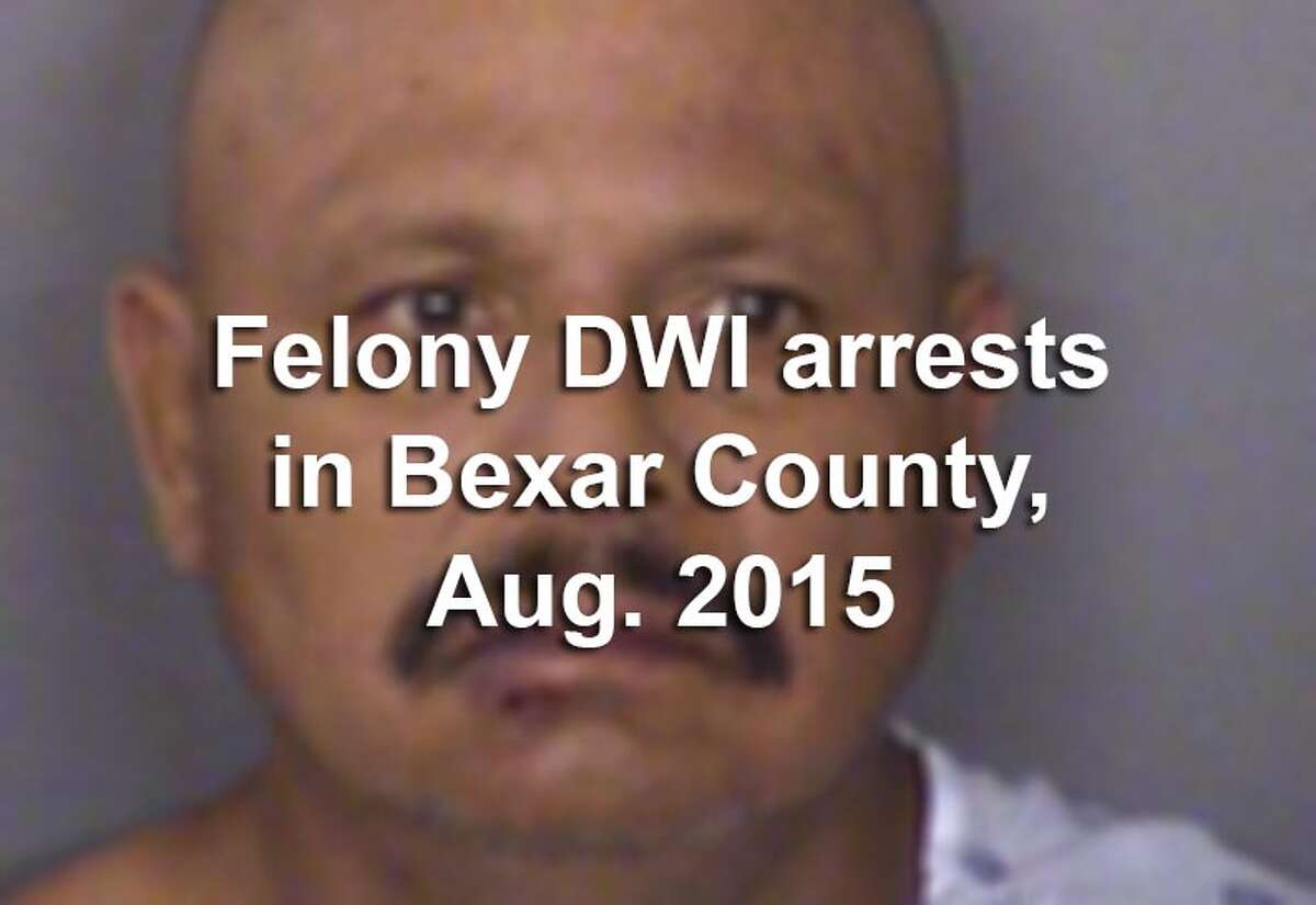 Law enforcement officers in Bexar County arrested 58 people in August 2015 on felony drunken driving charges including including driving while intoxicated - third or more, driving while intoxicated with a child passenger under 15 years old, intoxication assault or intoxication manslaughter. Scroll through the slideshow to see their mugshots.