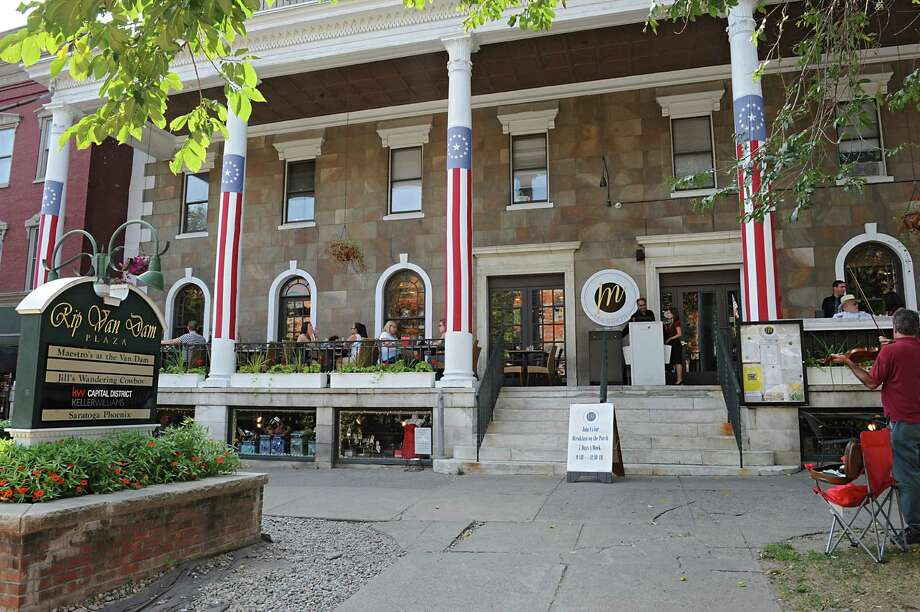 Exterior of Maestro's at the Van Dam on Monday, Aug. 24, 2015 in Saratoga Springs, N.Y. (Lori Van Buren / Times Union) Photo: Lori Van Buren / 00033079A