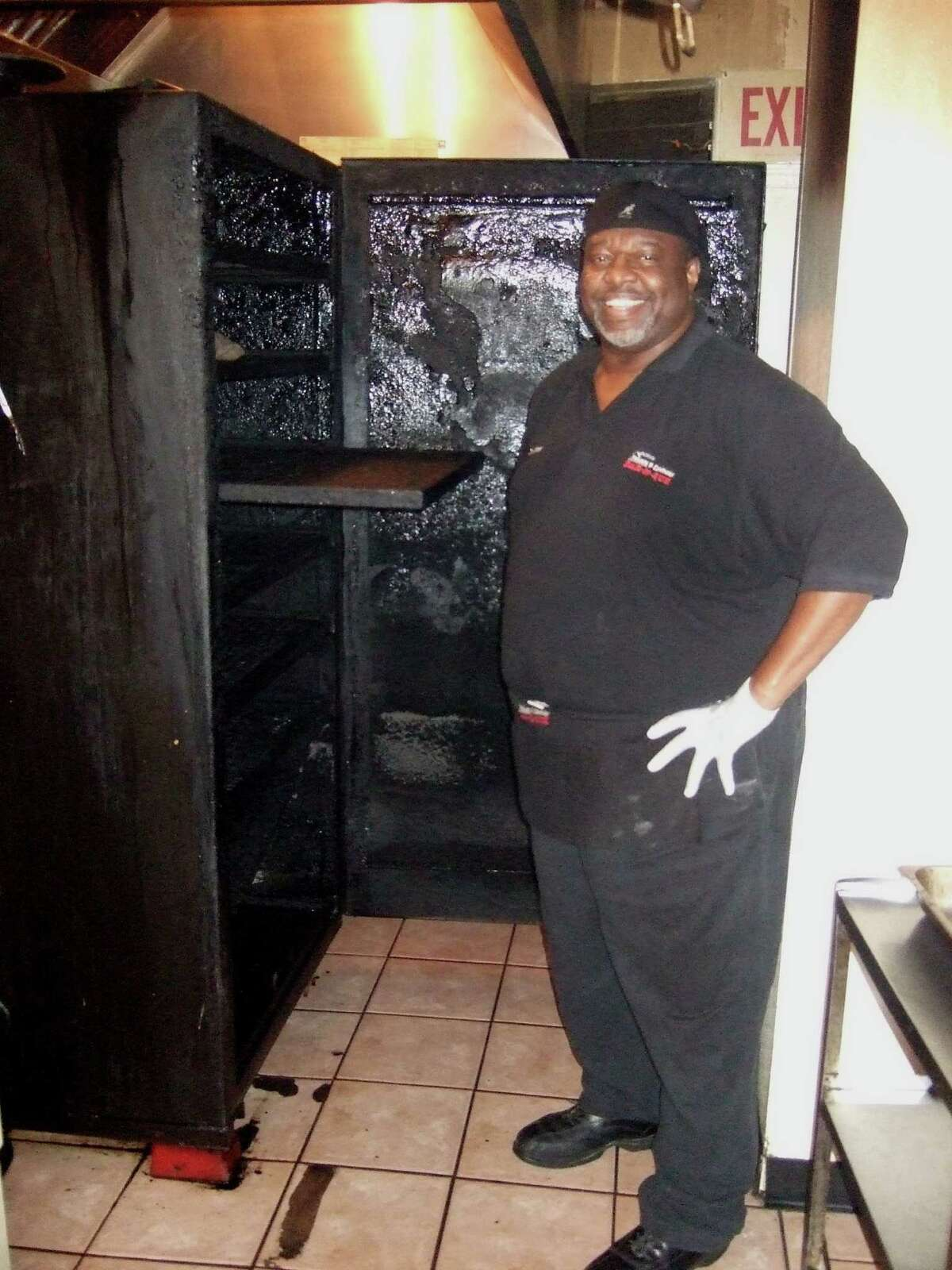 Clarence Pierson is the owner of Pierson's BBQ. photo by J.C. Reid