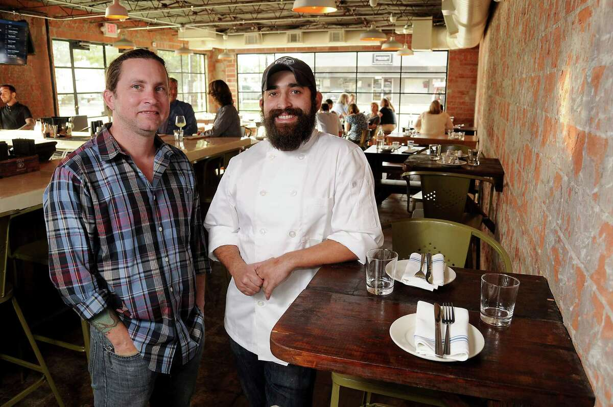 Co-owner Charles Bishop and chef/owner Lyle Bento at Southern Goods at 632 W. 19th St. The partners are planning to open a new restaurant, 60 Pioneers, at 911 W. 11th St. in the Heights.