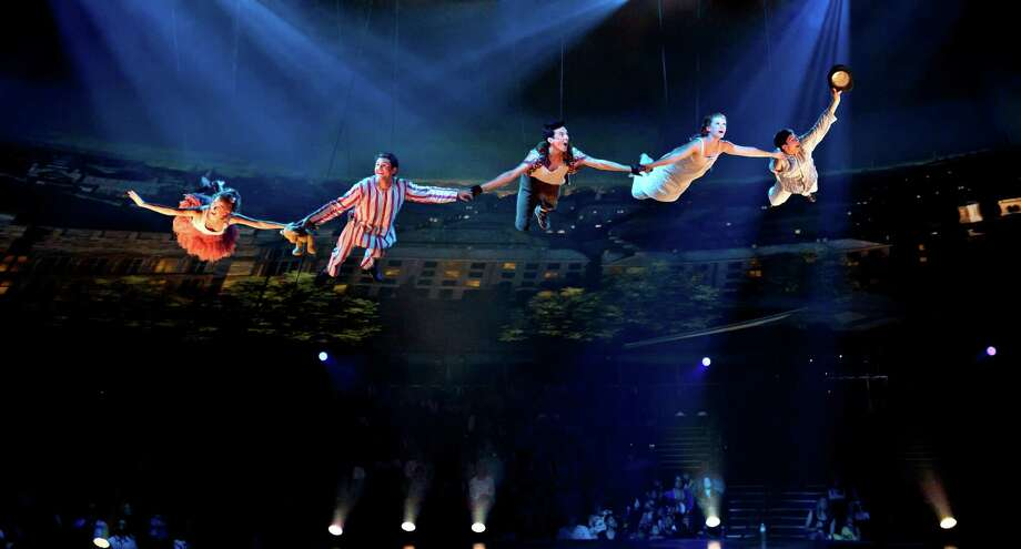 """The cast of """"Peter Pan 360"""" spends a lot more time airborne than performers in other productions of J.M. Barrie's classic. Photo: Jeremy Daniel"""