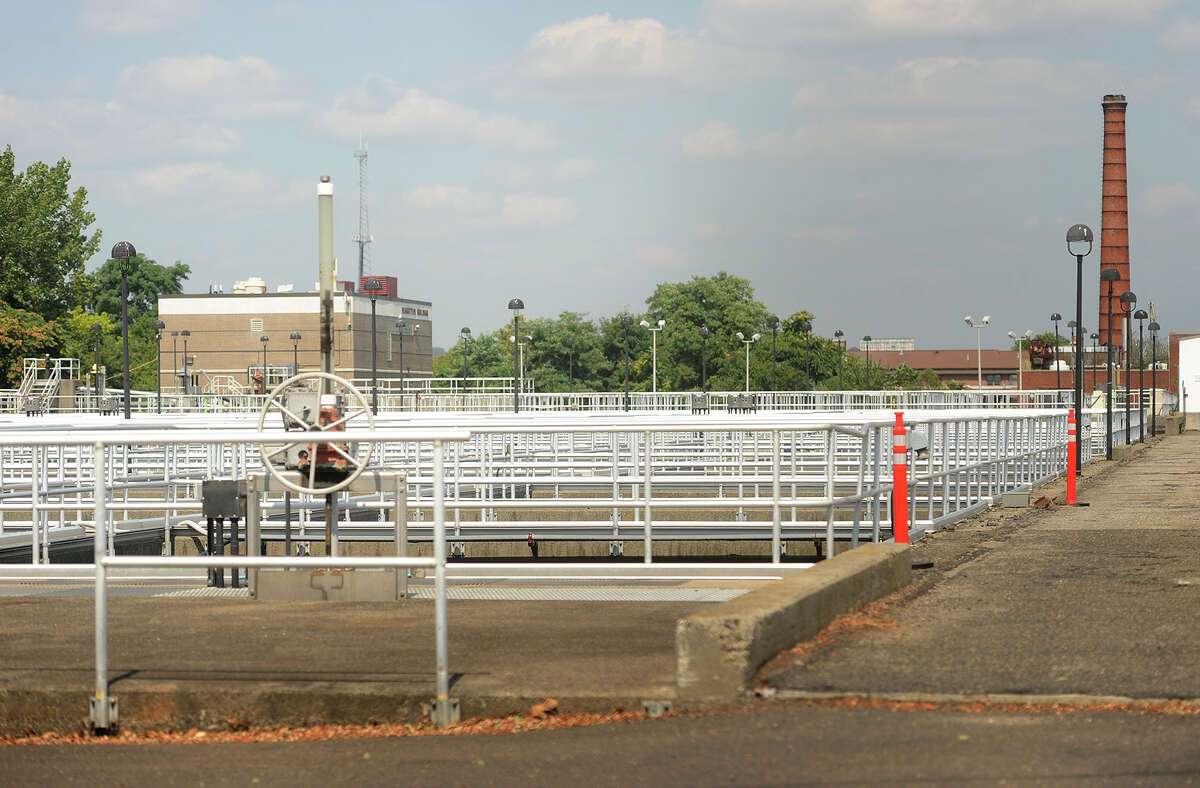 The Water Pollution Control Authority West Side Plant on Bostwick Avenue in Bridgeport.