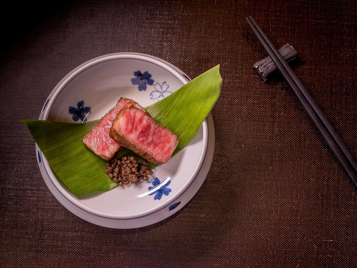 Hokkaido beef Arima Sansho at Omakase in San Francisco, Calif., is seen on September 3rd, 2015.