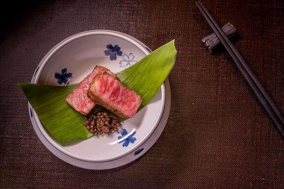 Hokkaido beef Arima Sansho at Omakase in San Francisco, Calif., is seen on September 3rd, 2015.