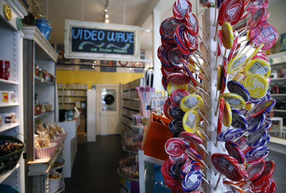 Noe Valley video rental shop Video Wave now shares space in the back of Buttons Candy Bar on 24th Street in San Francisco, Calif. on Friday, Sept. 4, 2015. Believed to be the oldest video rental business in the city, Video Wave now shares the back end of a candy store after its lease expired at the original location around the corner. Photo: Paul Chinn, The Chronicle