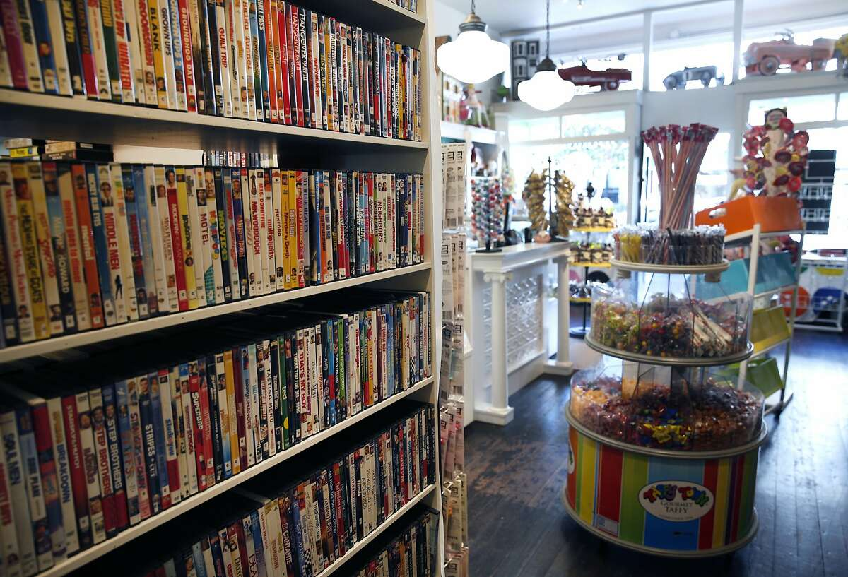 Noe Valley video rental shop Video Wave shares space in the back of Buttons Candy Bar on 24th Street in San Francisco, Calif. on Friday, Sept. 4, 2015. Believed to be the oldest video rental business in the city, Video Wave now shares the back end of a candy store after its lease expired at the original location around the corner.