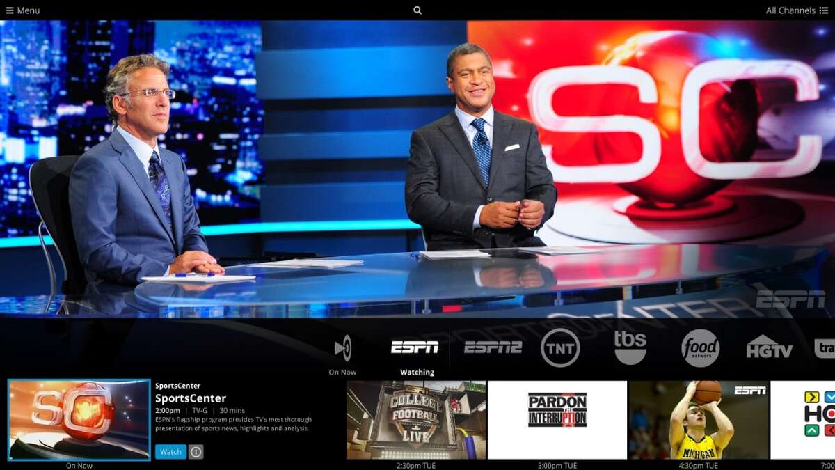 Sling TV gives you access to ESPN, ESPN2, and more without a cable contract.