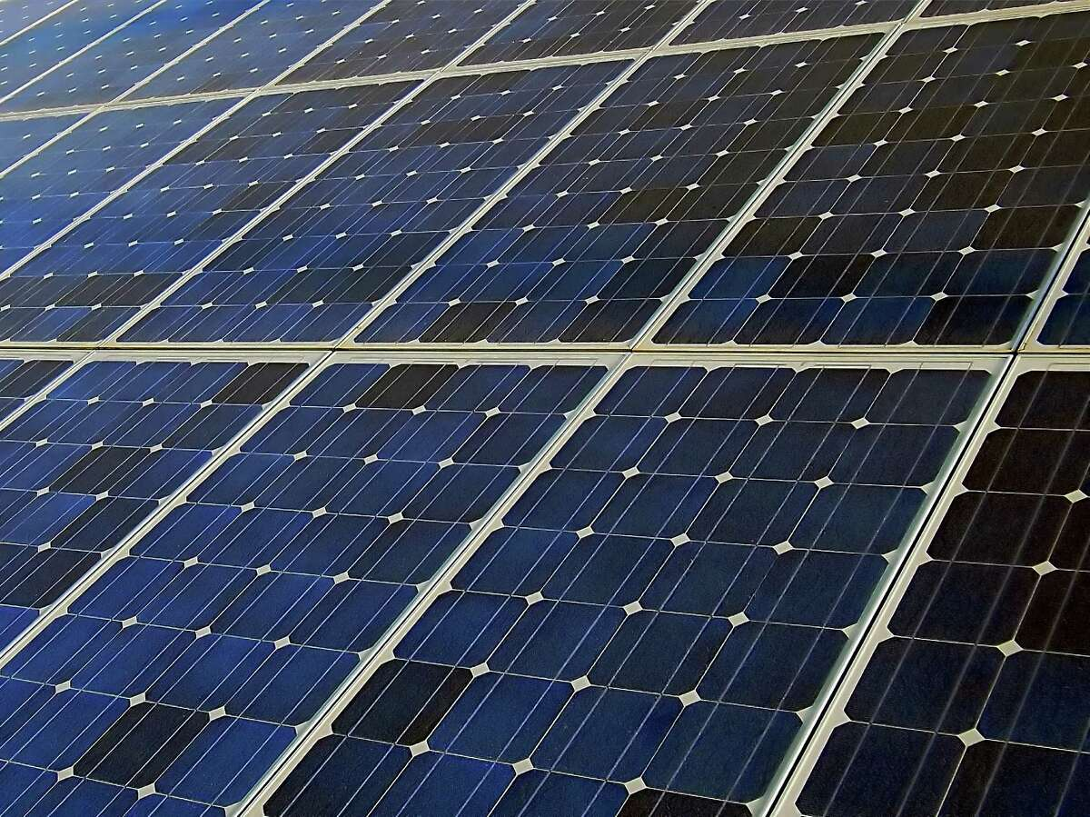 Photovoltaic cells in solar energy panels on a power plant Fotolia for jbaum