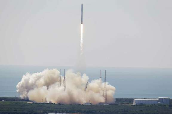 The SpaceX Falcon 9 rocket lifts off June 28 from Cape Canaveral, Fla. The rocket carrying supplies to the International Space Station broke apart shortly after liftoff.