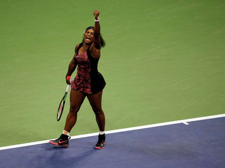 Serena Williams reacts after winning a point against Bethanie Mattek-Sands during the third round of the U.S. Open tennis tournament, Friday, Sept. 4, 2015, in New York. (AP Photo/Charles Krupa) ORG XMIT: USO326 Photo: Charles Krupa / AP