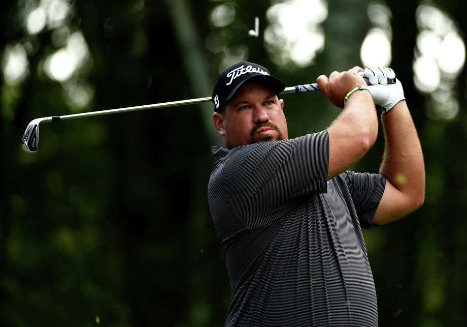 NORTON, MA - SEPTEMBER 04:  Brendon de Jonge of Zimbabwe watches his tee shot on the eighth hole during round one of the Deutsche Bank Championship at TPC Boston on September 4, 2015 in Norton, Massachusetts.  (Photo by Ross Kinnaird/Getty Images) ORG XMIT: 527949775 Photo: Ross Kinnaird / 2015 Getty Images