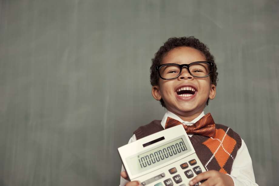 Use a calculator. Yes, these still exist but most kids will do the math on a computer or their phone. Photo: Andrew Rich, Getty Images/Vetta