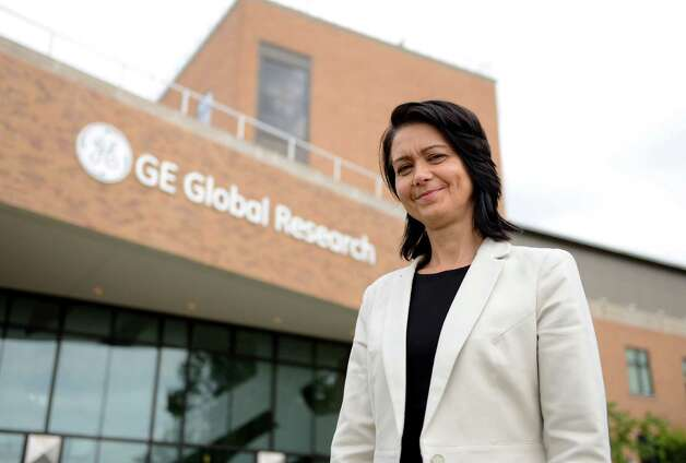 Claudia Cosoreanu, a General Electric manager who has relocated to the Capital Region from Toronto, Canada, poses a photo at GE Global Research Center Friday, Sept. 4, 2015, in Niskayuna, N.Y. Cosoreanu is the liaison between the research laboratory and GE's oil and gas business. (Will Waldron/Times Union) Photo: Will Waldron / 00033244A