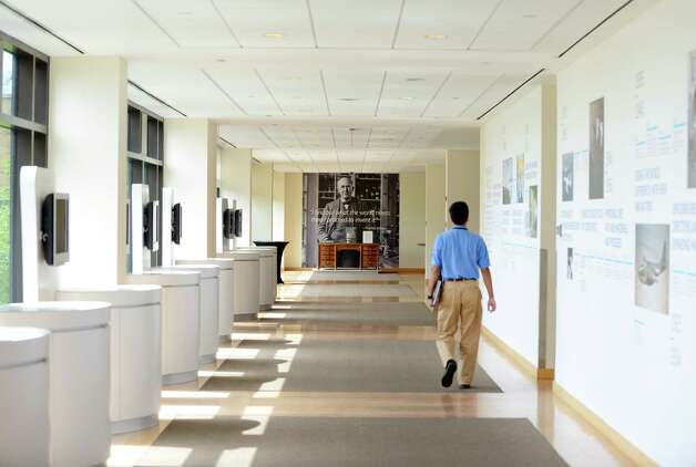 Lobby hallway in the main building at General Electric Global Research Center Friday, Sept. 4, 2015, in Niskayuna, N.Y. (Will Waldron/Times Union) Photo: Will Waldron / 00033244A