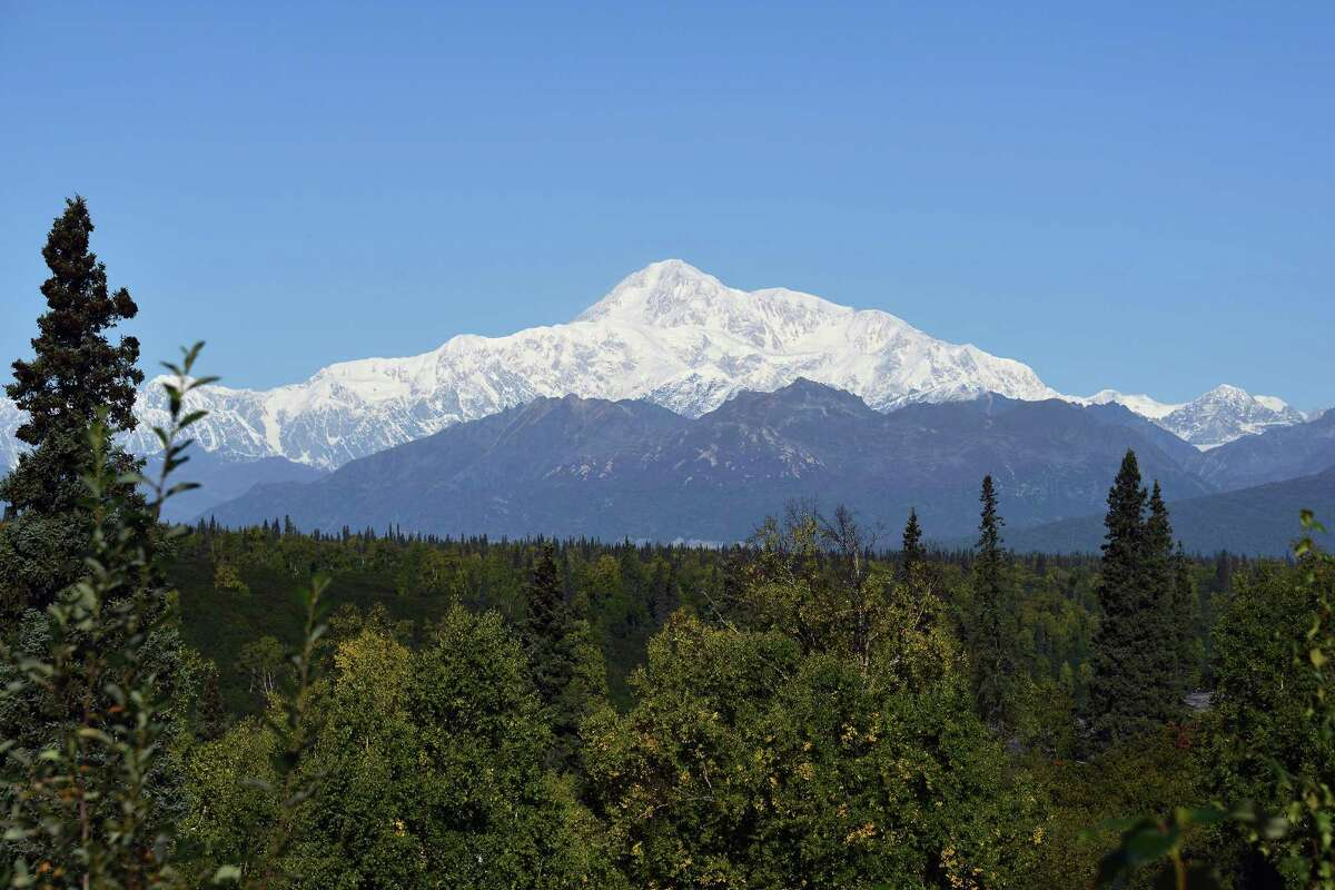 DENALI NATIONAL PARK, AK - SEPTEMBER 1: A view of Denali, formerly known as Mt. McKinley, on September 1, 2015 in Denali National Park, Alaska. According to the National Park Service, the summit elevation of Denali is 20,320 feet and is the highest mountain peak in North America. (Photo by Lance King/Getty Images) ORG XMIT: 574957665