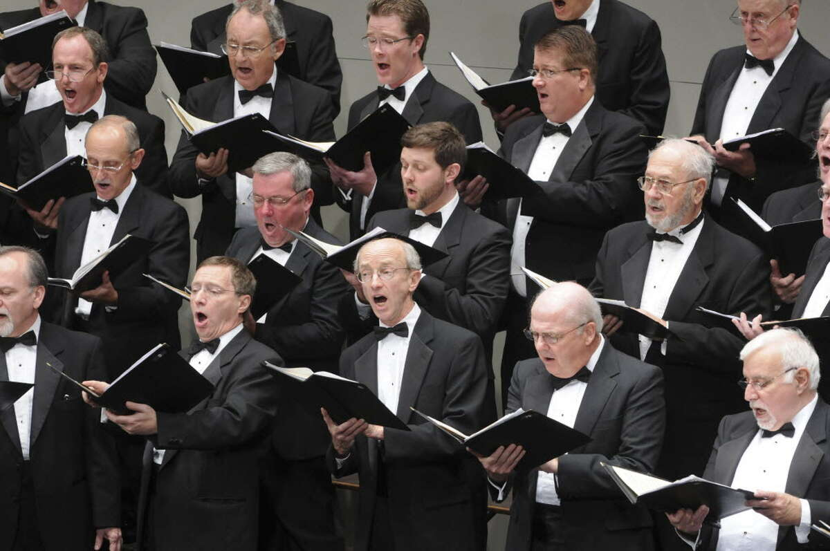 Members of The Mendelssohn Club of Albany perform at Proctors on Oct. 9, 2011 in Schenectady. (Paul Buckowski/Times Union)