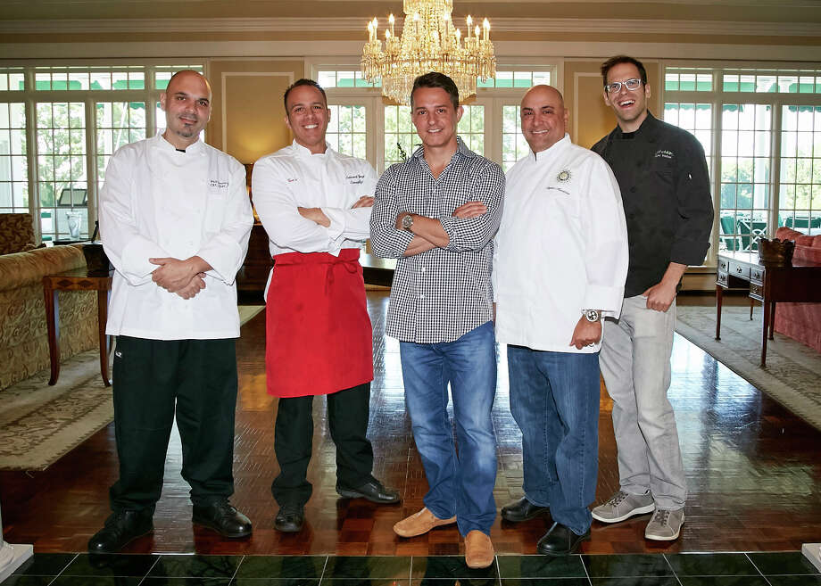 "The American Diabetes Association's ""Change the Future"" chef event at Greenwich Country Club will take place Nov. 3 and kick off November as Diabetes Awareness Month. From left are chefs Phil Iannucculli, Edward Varipapa, Rui Correia, Steven Maronian and Marc Weber. For information about the event, contact Hope Jayes at the American Diabetes Association at 203-639-0385, ext. 3536 or hjayes@diabetes.org. Photo: Contributed Photo / Greenwich Time Contributed"