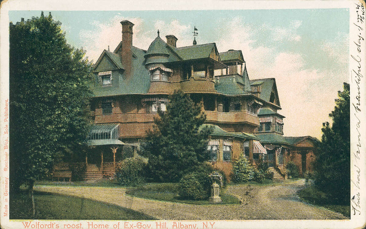 The original Wolferts Roost, owned by former New York Governor David B. Hill, seen in 1906. Wolferts Roost historical photo.