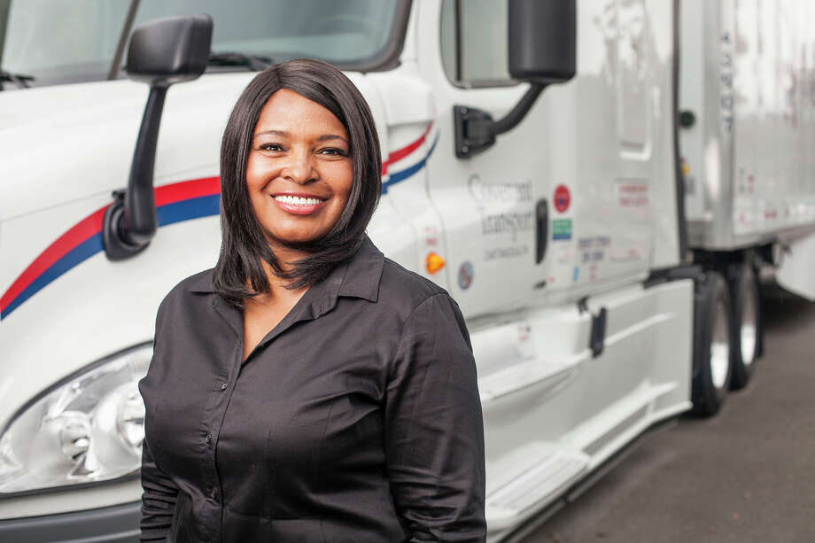 Wyzeena Heeny drives trucks for Covenant Transportation Group of Chattanooga, Tenn. Whether measuring accidents, inspections or compliance issues, women drivers are outperforming males, according to one trucking company executive.  Photo: HANDOUT, STR / BLOOMBERG NEWS