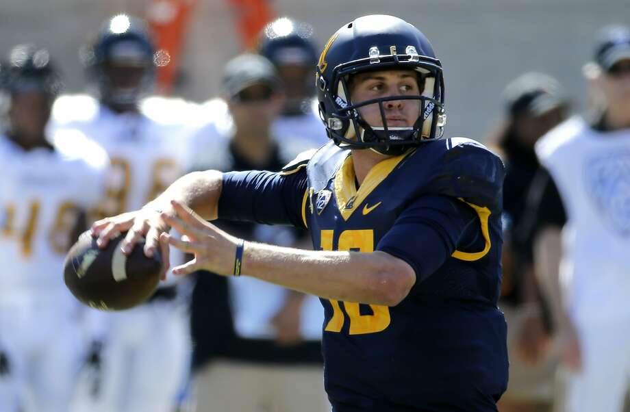 Cal quarterback Jared Goff, 16 back to throw inn the first half, as the University of California Golden Bears take on the Grambling State Tigers at Memorial Stadium on Sat. September 5, 2015, in Berkeley, Calif. Photo: Michael Macor, The Chronicle