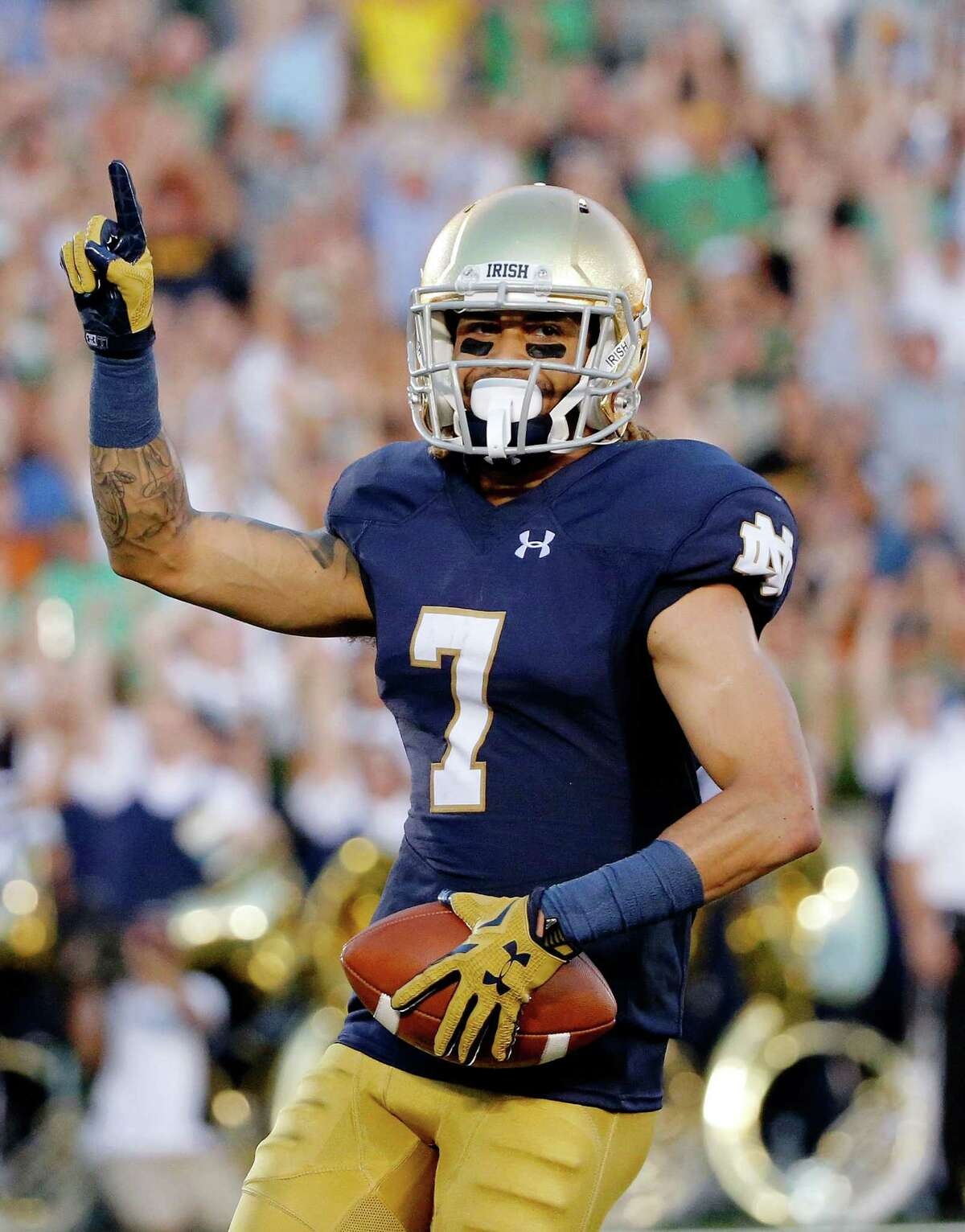 2. His 30 receiving touchdowns - in 29 starts - are the second most in Notre Dame history.
