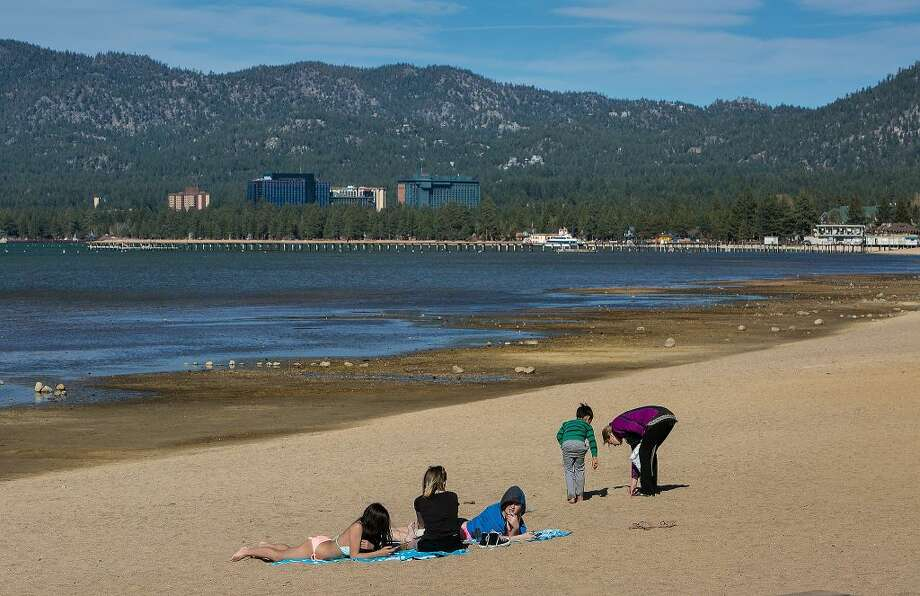 Lake Tahoe, like many lakes around the world, is rising in temperature. Tahoe's surface temperature reached 53 degrees last summer, the highest in more than a century. Photo: George Rose, Getty Images