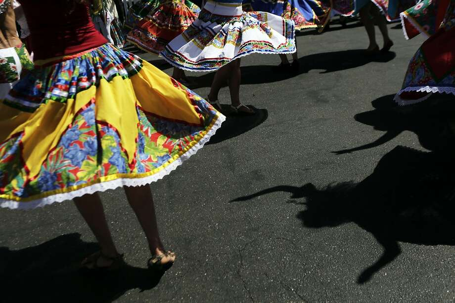 Dancers perform during the SF Bay Brazilian Day and Lavagem Festival at the Casa de Cultura in Berkeley, Ca. on Sunday, September 6, 2015. Photo: Dorothy Edwards, The Chronicle