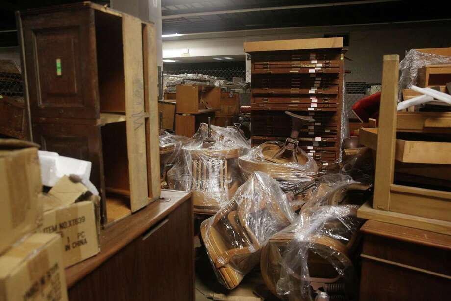 Jury chairs from a courtroom in City Hall sit among other items being stored in Brooks Hall  on Monday, August 10, 2015 in San Francisco, Calif. Photo: Lea Suzuki / The Chronicle / ONLINE_YES