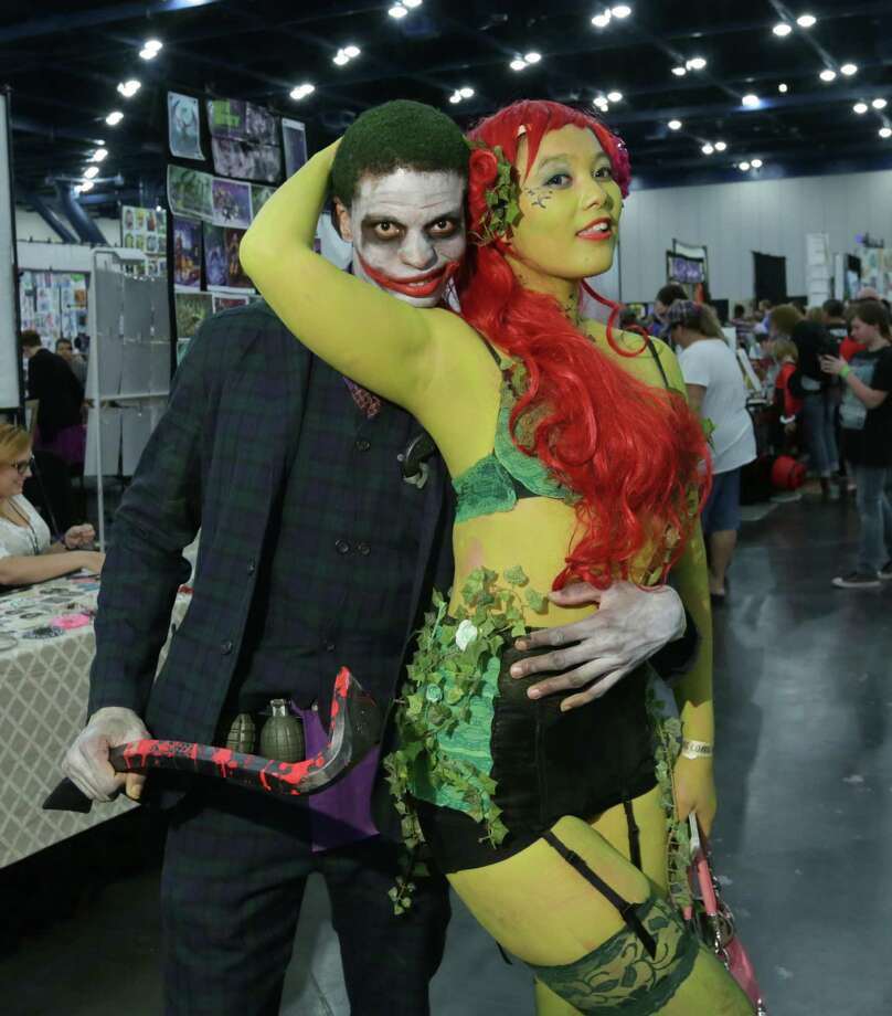 Fans pose for a photo at the Amazing Houston Comic Con at the George R. Brown Convention Center on Saturday in Houston.  Photo: Jon Shapley, Staff / © 2015 Houston Chronicle