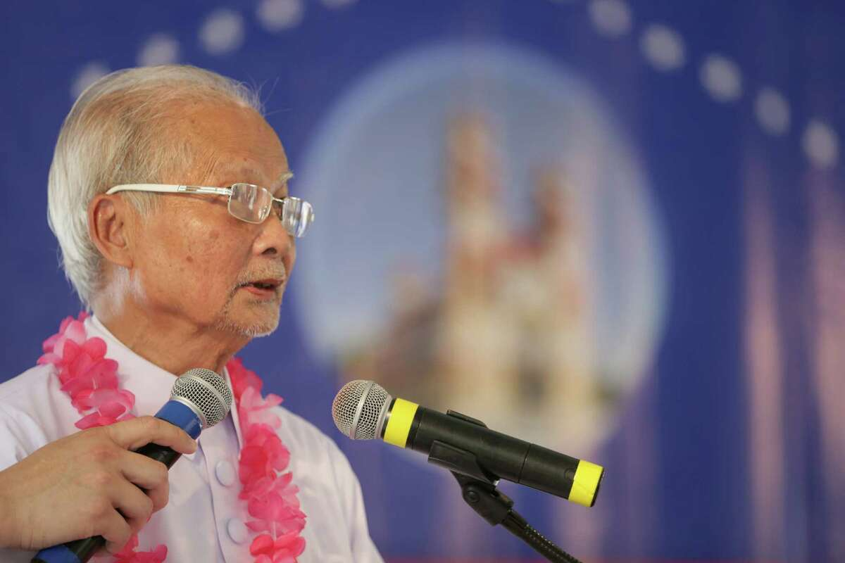 The Quoc Trinh, Reverend of Cao Dai High Temple, at the opening ceremony on Sunday for the Cao Dai Temple.